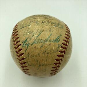 1955 Brooklyn Dodgers World Series Champs Team Signed Baseball Koufax JSA COA