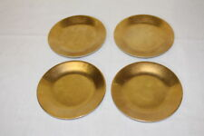 Set of 4 Philippe Deshoulieres Carat Gold Bread & Butter Plates Limoges MINT