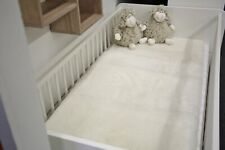 Bed Pad Natural White From All Lamb Fur fur Cover Kid's Bed 47 3/16x23 5/8in