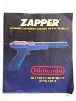 NES Zapper Instruction Manual Original Booklet Book Nintendo