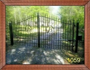 Veterans Discount! Driveway Gate 11' or 12' Wide HD, Steel Home Security
