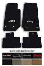 Jeep Cherokee Ultimats Carpet 4pc Floor Mat Set - Choose Color & Logo