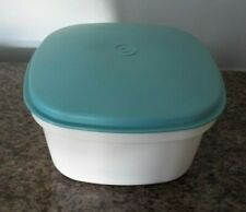 Vintage Tupperware Square Multi Server Steamer 888 Teal Off White 3 Pieces
