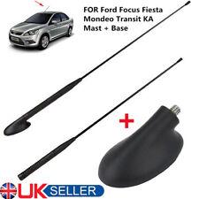 Car AM/FM Roof Antenna Aerial+Base Set For Ford Focus Fiesta Mondeo Transit UK