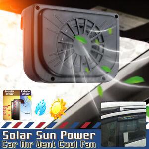 Car Window Windshield Sun Solar Powered Exhaust Auto Air Vent Cooling Fan Cooler