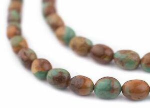 Green Turquoise Oval Beads 12x8mm Gemstone 16 Inch Strand