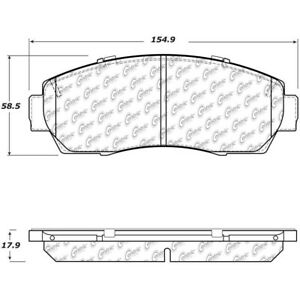 StopTech For Honda Crosstour Disc Brake Pad Set Front Centric - 308.15210