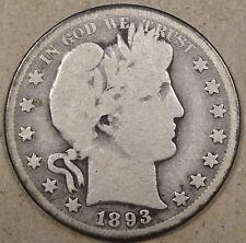 1893-S Barber Half Dollar G+