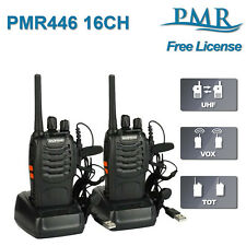2x Baofeng BF-888S PMR446 License Free Walkie Talkies Two Way Radio + Earpiece