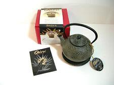 Bonjour Odori Collection Cast Iron Teapot and Coaster, NIB