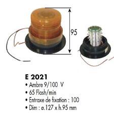 Lights A Shatter Beacon A LED 12-80 Volt H 3/4in Amber Orange E2021
