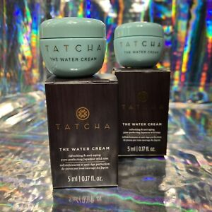 2x Tatcha 5mL THE Water CREAM mini Great For ALL Skin Types
