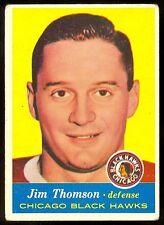 1957-58 TOPPS HOCKEY #23 JIM THOMSON EX COND CHICAGO BLACK HAWKS CARD