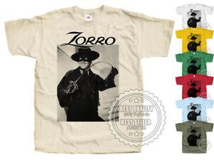 Signe de Zorro v13 T SHIRT 1957 Colors Movie Poster all sizes S-5XL