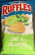 NEW RUFFLES LIME & JALAPEÑO FLAVORED POTATO CHIPS 8.5 OZ (240.9g) BAG BUY IT NOW
