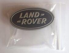 Genuine LAND ROVER Black & Silver Matte Oval Badge UK SELLER