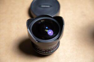 Samyang 8mm fisheye T3.8 VDSLR II Canon EOS APS-C Rokinon