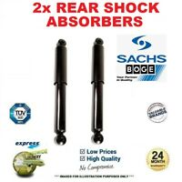 2x SACHS BOGE Rear Axle SHOCK ABSORBERS for FIAT PANDA 1.3D Multijet 2006->on