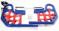 Yamaha Raptor 660 2001-05 Quad ATV Nerf Bars Nets & Fittings Blue Ano (RedN) #07