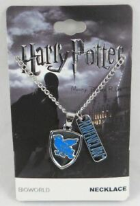 New Harry Potter House Of Ravenclaw Crest Logo Pendant With Charm Necklace