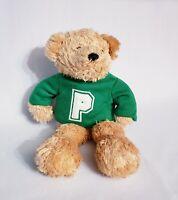 """Saks Department Store Proffitt's Green Shirt Teddy Bear Plush 10.5"""" Stuffed Toy"""