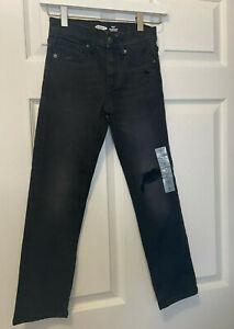 Old Navy Karate Slim Built-In Flex Max Black Distressed Jeans for Boys Size *