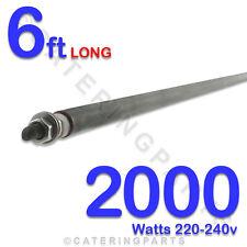 """HE7220 72""""/ 6ft LONG 2000 watt 2 kw WET DRY 8MM ROD HEATING ELEMENT 220-240V"""