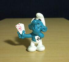 Smurfs Poker Player Smurf Casino Card Shark 1979 Rare Vintage Toy Figurine 20056