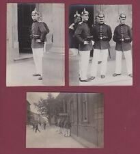3 PHOTOS - 170314 - Militaires allemands casque à pointe.