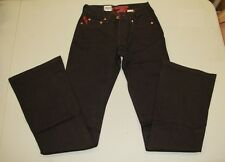 PARASUCO Ergonomic Women's Dark Brown Low Rise Flare Designer Jeans Size 24
