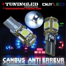2 AMPOULE 5 LED SMD W5W WY5W T10 BLANC XENON 6000K SONAR ANTI SANS ERREUR ODB