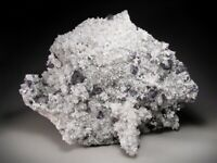 Fluorite Crystals on Quartz, Okorusu Mine, Namibia