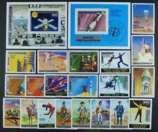 554/Space Raumfahrt 1977 Central Africa Uniformen Sport 464-83 + Block 15 + 17