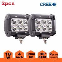 "2x 4"" 18W CREE LED Work Light Bar Spot Offroad 4WD Fog ATV SUV Driving Lamps"