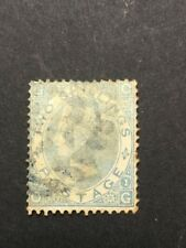 GB 1867/68 2 shilling bleu filigrane fleurs lettre O G