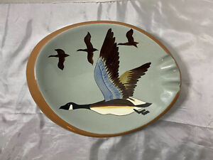Stangl Ceramic Hand Painted Canada Goose Ashtray Sportsman Series