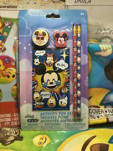 Disney Tsum Tsum Emoji Activity Fun Set - Memo Pad, Pencils, Sharpener