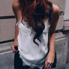 Fashion Women Sexy Lace Strap Vest Tank Top Casual Camisole Blouse Black/White