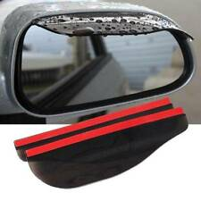 2x Black Car Rear View Side Mirror Rain Boards Sun Visor Shade Shields Universal