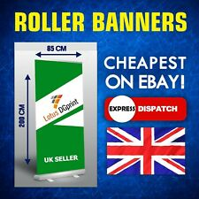 More details for roller banner 85 x 200 cm display stand - pull / pop / roll up sign exhibition