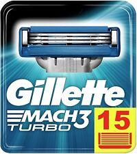 Gillette Mach3 Turbo 3D Lames de Rasoir  MAXI PACK x15