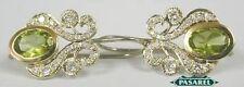 14K Gold Diamond & Peridot Designer Earrings