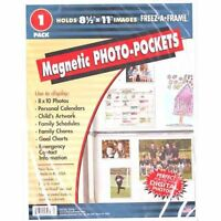 Flexible Magnetic Photo Pocket For 8-1/2x11 (Same Shipping Any Qty)
