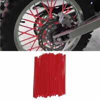 72x RED SPOKE WRAPS SPOKE COATS SPOKE COVERS 4 KTM CRF YZF HUSQVARNA RMZ KXF