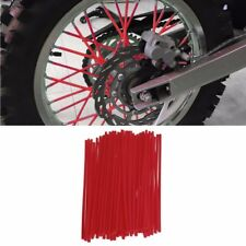 72Pcs RED Wheel Rim Spoke Wraps Skins Cover Fit For Motorcycle Dirt Bikes