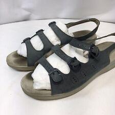 SAS Sandals Tripad Comfort Sandal Sz 9.5 W Cushion Blue Gray Suede