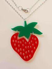 Strawberry Fruity Necklace - Acrylic