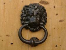 23cm CAST IRON Georgian LION HEAD DOOR KNOCKER Antique Style AGED REPRO NEW!