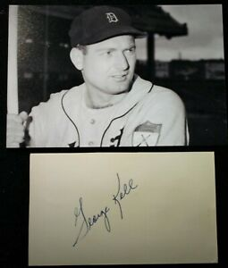 Vintage 1950s Playing Days George Kell Tigers Signed Card HOF D 2008 JSA Auth