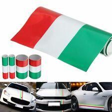 Auto Fascia Adesiva Tricolore Bandiera Italia Italy Strisce Sticker 100 x 15 cm